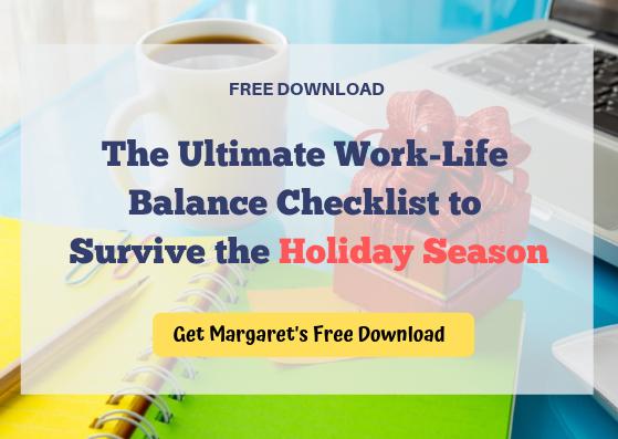 work-life balance for the holidays checklist CTA